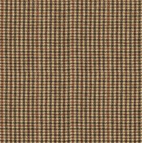 Ilkley - Natural-Brown - Blood red and charcoal coloured lines making up a small, simple grid design on very pale grey-white 100% wool fabri