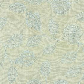 Ambleside Floral - Spring Blue - Light, classic shades of blue and grey in an elegant, patterned, stylised leaf and floral design on 100% co
