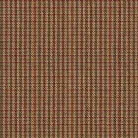 Ilkley - Red - A small, simple checked design woven into 100% wool fabric made in blood red, graphite grey and grey-brown