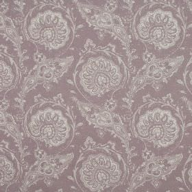 Josette - Heather - A stylish, detailed pattern in pale shades of grey on 100% cotton fabric in a light shade of dusky purple