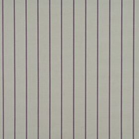 Layla - Heather - Dark purple pinstripes running down a dove grey coloured 100% cotton fabric background
