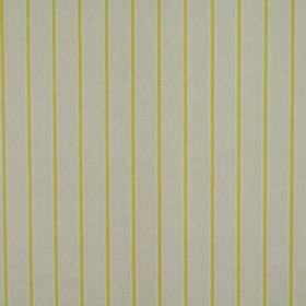 Layla - Lemon - Plain grey 100% cotton fabric patterned with lime green coloured vertical pinstripes