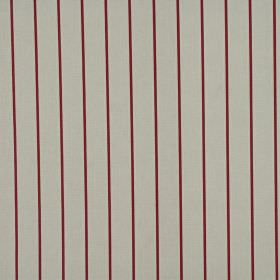Layla - Rose - Pinstripe patterned fabric made entirely from cotton in burgundy and mid-grey colours