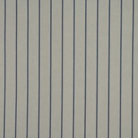 Layla - Wedgewood - 100% cotton fabric with a simple pinstripe design in iron grey and navy blue