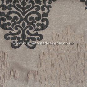 Arkara - Noir - Classic swirl design in noir and light grey fabric