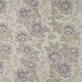 Wray - Heather - Fabric made from floral patterned 100% cotton, with a busy design made in light shades of grey and purple