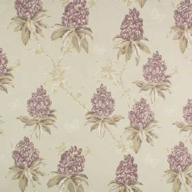 Ascot - Ascot - Floral patterned fabric made from 100% cotton, made in light, muted shades of grey and lavender