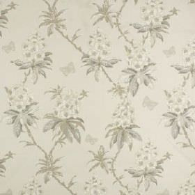 Ascot - Linen - 100% cotton fabric printed with a subtle, repeated floral pattern in several different light shades of grey