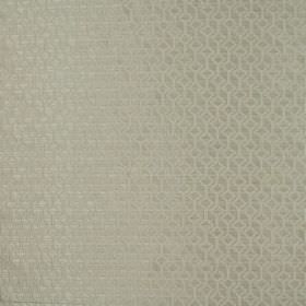 Deakin - Oyster - Silver-beige coloured fabric made entirely from polyester with a subtle geometric shape pattern