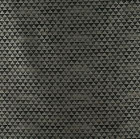 Icon - Graphite - Tiny tessellated triangles in various shades of black and grey on fabric containing polyester and viscose
