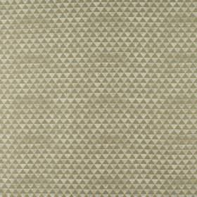 Icon - Stone - Polyester and viscose blend fabric covered with a cream and gold coloured pattern of small tessellated triangles