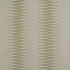 Alcott - Oyster - Optical illusion style wide patterned stripe designs in gold-beige on a beige coloured 100% polyester fabric background
