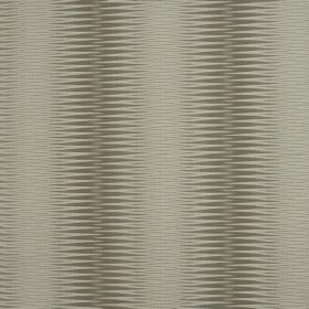 Alcott - Pearl - Beige-grey coloured 100% polyester fabric in several different shades with wide patterned stripes