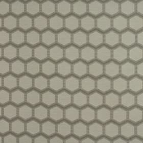 Axel - Pearl - Honeycomb patterned fabric made from polyester and viscose in several different shades of grey-beige