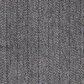 Howie - Charcoal - 100% polyester fabric made with a traditional herringbone weave in practical black and white colours