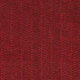 Howie - Cranberry - Luxurious scarlet coloured 100% polyestere fabric, woven with a classic herringbone design