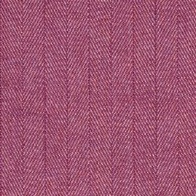 Howie - Mulberry - Herringbone patterned fabric made from vivid fucshia coloured 100% polyestr, woven with a few subtle white threads
