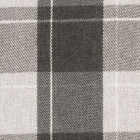 Fellcroft - Charcoal - Light and dark shades of grey making up a contemporary checked design woven into 100% polyester fabric