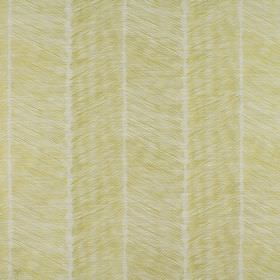 Rizzi - Apple - Vertical grass green bands coloured in diagonally in alternate directions on white cotton and polyester blend fabric