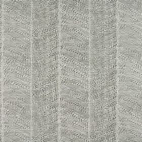 Rizzi - Cloud - Several pale shades of grey making up a striped design featuring diagonal colouring on cotton-polyester blend fabric