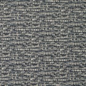 Blake - Petrol - White and several dark shades of grey making up the dashed pattern covering fabric made from 100% cotton