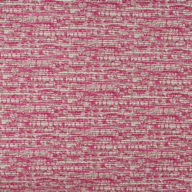 Blake - Raspberry - Cerise, beige and white dashes covering 100% cotton fabric