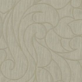 Makeda - Ivory - Fabric made from 100% polyester in several similar light shades of grey, featuring a large, elegant swirling design