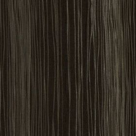Mimi - Bark - Thin ash grey coloured lines running at uneven intervals down a black 100% polyester fabric background