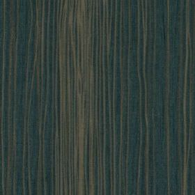 Mimi - Teal - Dark marine blue and mid-grey coloured fabric made from 100% polyester, featuring a thin, uneven vertical line design