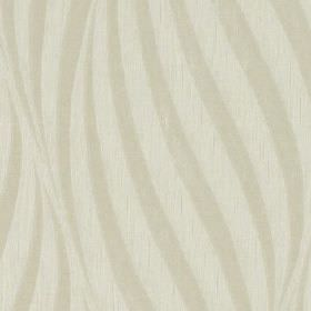 Tulie - Ivory - Two similar very pale shades of grey making up a large, elegant, curving line design on fabric made from 100% polyester