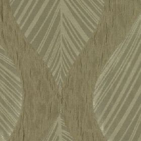 Botinia - Linen - Elegant pale grey and beige leaves arranged on a slightly speckled beige and black 100% polyester fabric background