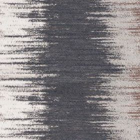 Jinny - Platinum - Polyester and cotton blend fabric featuring large, sweeping areas of colour in charcoal, pale grey & light brown colours