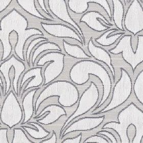 Zula - Ivory - Three different light shades of blue making up a simple, elegant floral and leaf pattern on polyester and cotton fabric