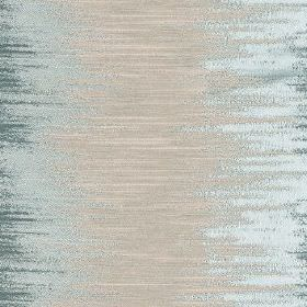 Jinny - Azure - Sweeping areas of silver-grey, very pale blue and navy blue brushed horizontally across polyester and cotton blend fabric