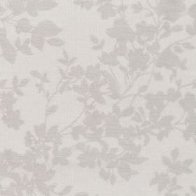 Hambel - Pebble - Fabric in grey with slightly darker floral pattern