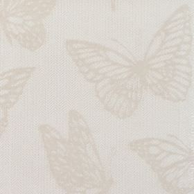 Selsy - Oyster - Fabric wth cream background and darker butterfly pattern