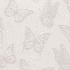 Selsy - Pebble - Fabric with grey background with darker butterfly pattern