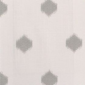 Cowes - Pebble - Fabric with grey background with darker smudged diamond pattern