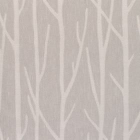 Wareham - Pebble - Fabric with grey background with lighter branch-like pattern