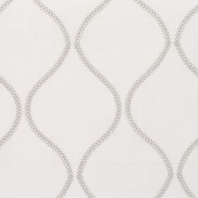 Colwyn - Pebble - Fabric with grey background with darker vertical snake-like pattern