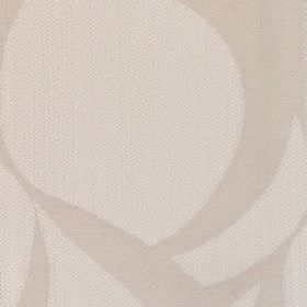 Calshot - Stone - Fabric with light beige background with bold darker whorls