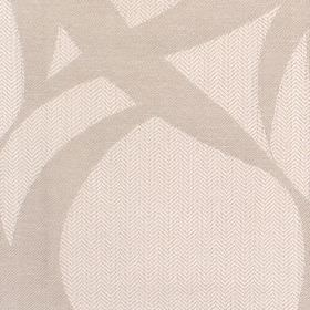 Calshot - Oyster - Fabric with cream background and bold darker whorls