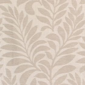 Newhaven - Stone - Fabric with light grey background with darker leafy frond pattern