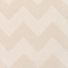 Seaford - Oyster - Fabric with shades of cream bold zig-zags