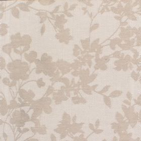 Hambel - Stone - Fabric in light grey with slightly darker floral pattern