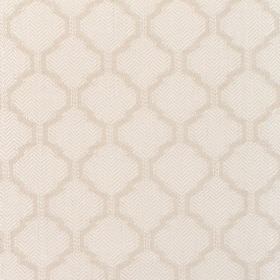 Coastal - Oyster - Fabric with cream background and darker diamond-shape pattern