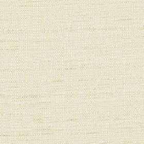 Raffia - Oyster - Fabric woven from an ivory coloured blend of polyester and viscose
