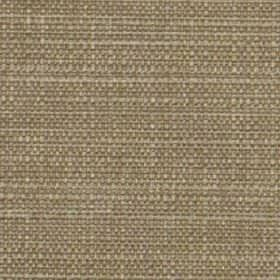 Raffia - Praline - Dark brown polyester and viscose blend fabric woven with a few pale grey coloured threads