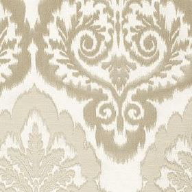 Winslow - Oyster - Large, ornate patterns covering fabric made from polyester, cotton and linen in white and luxurious silver-grey