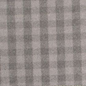 Peyton - Mist - Fabric with shades of light grey with criss-cross stripess